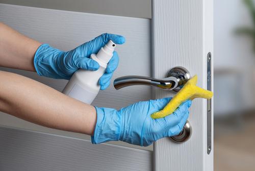 Doorknobs disinfection